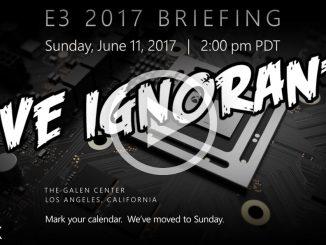 Live ignorante per l'E3 2017 - Conferenza Microsoft