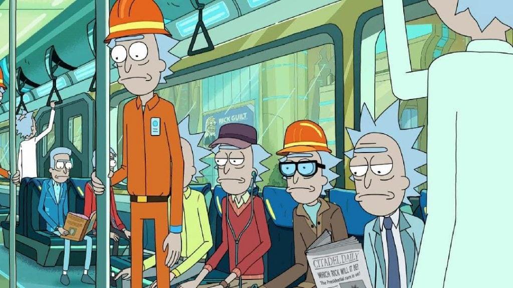 Rick & Morty cittadella treno lavoratori