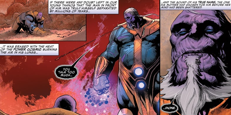 thanos dione comic