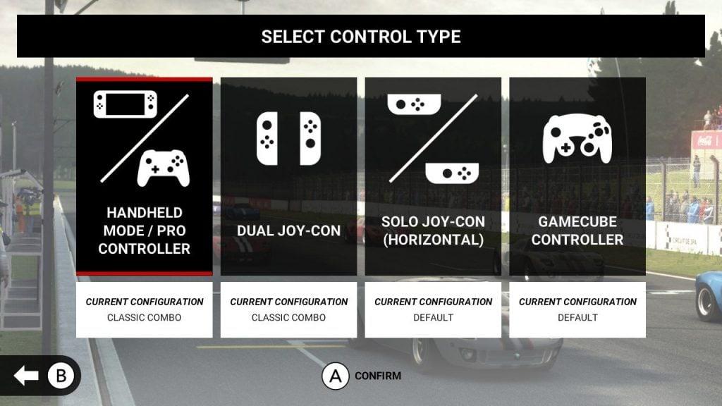 GRID Autosport nintendo switch controlli