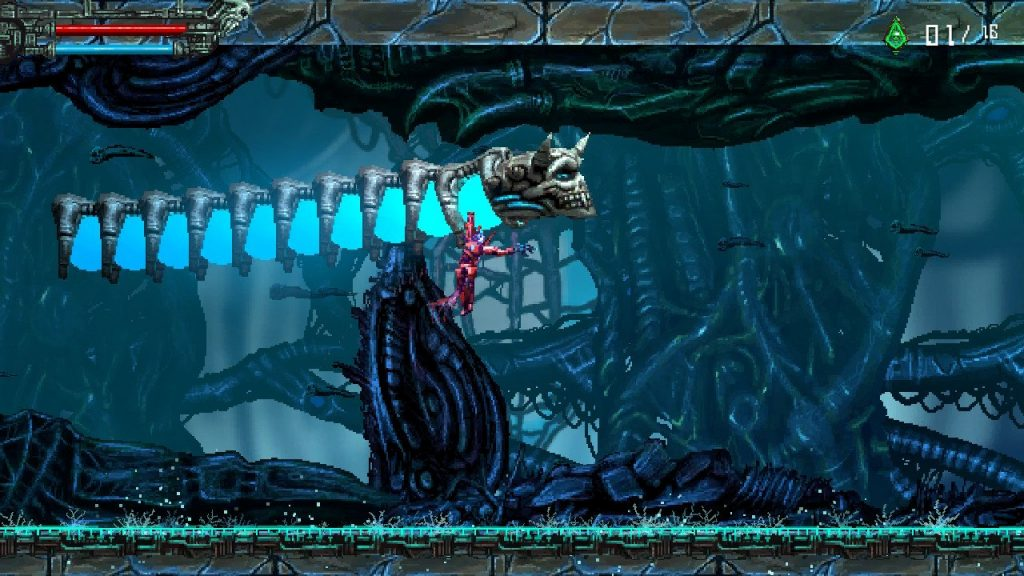 Valfaris gameplay platforming