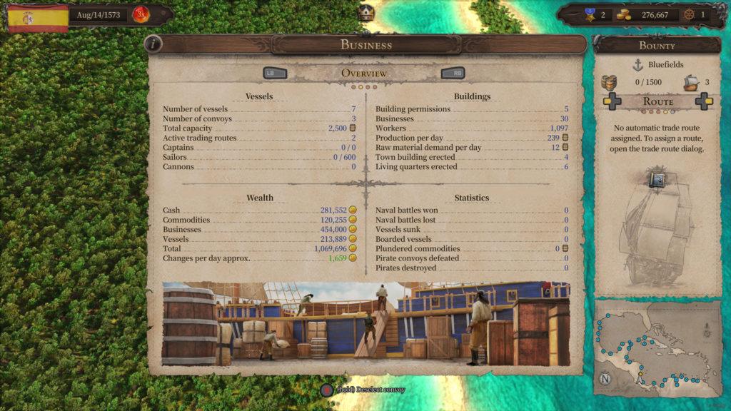 Port Royale 4 Statistiche
